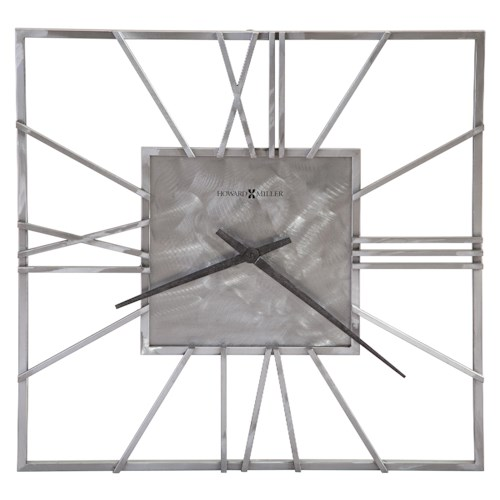 Howard Miller Clocks Lorain Square Metal Wall Clock
