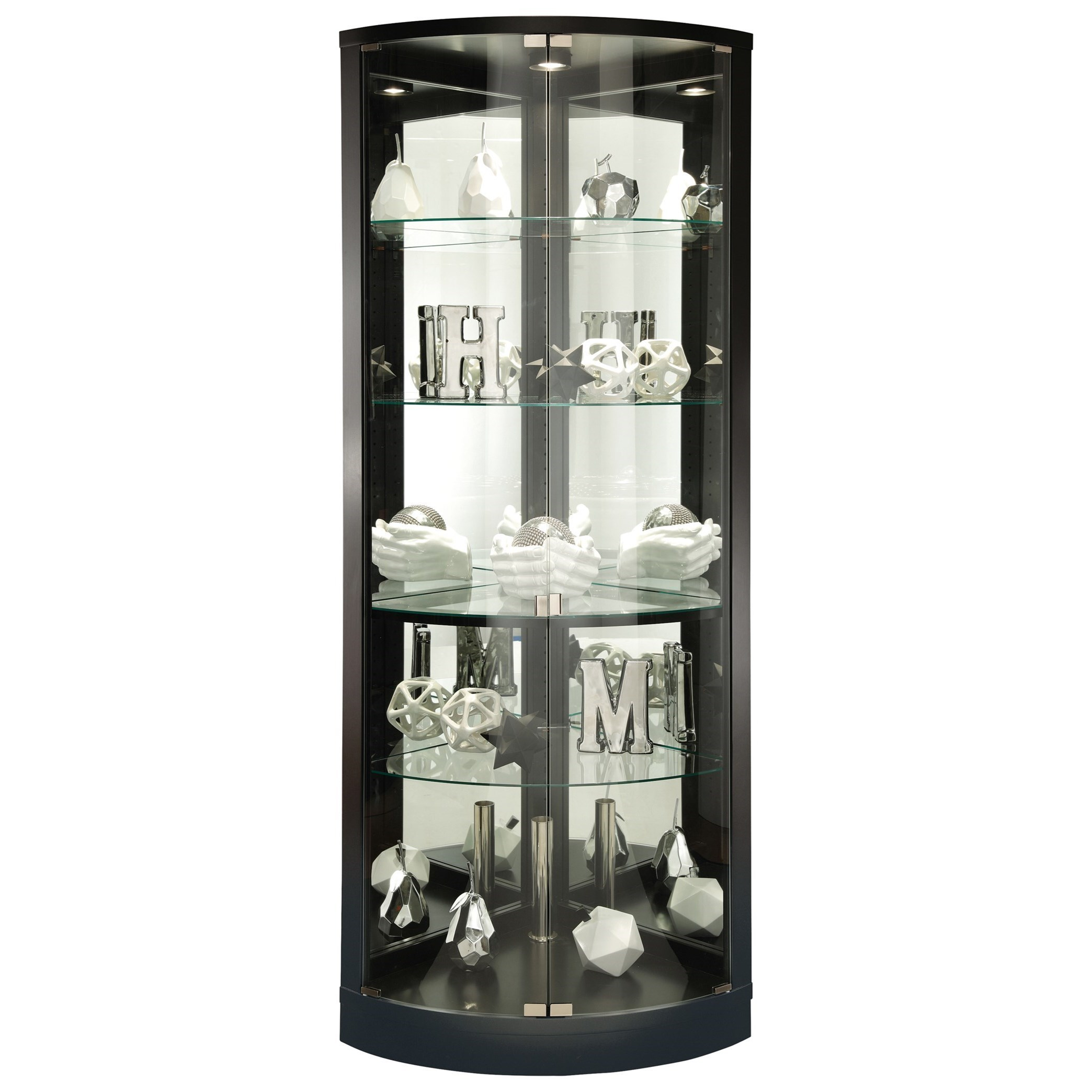 Curios Jaime Display Cabinet By Howard Miller