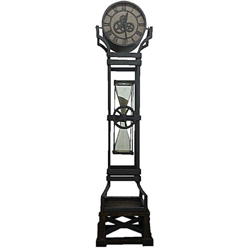 Howard Miller Iron Works Iron Floor Clock with Chime and Hour Glass