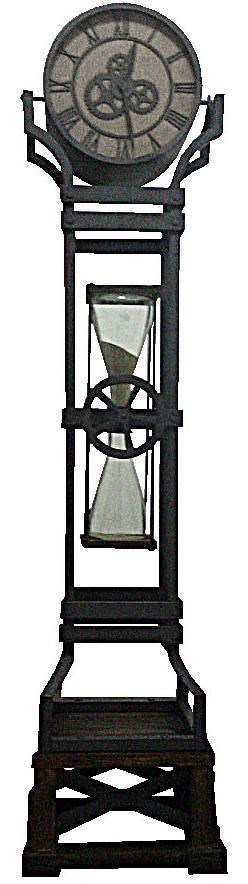 howard miller iron works iron floor clock with chime and hour glass - Howard Miller Grandfather Clock