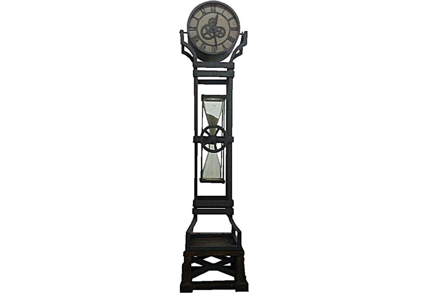 Howard Miller Iron Works Iron Floor Clock With Chime And Hour