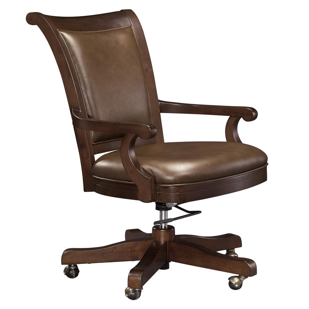 Image of: Howard Miller Ithaca Upholstered Office Chair With Casters Wayside Furniture Executive Desk Chair