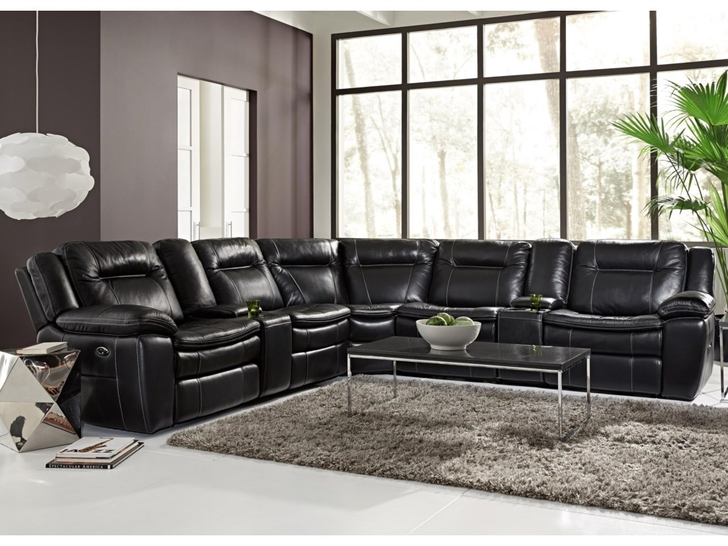 HTL 10137Contemporary Reclining Sectional