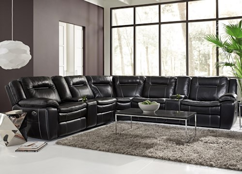 HTL 10137 Contemporary Reclining Sectional