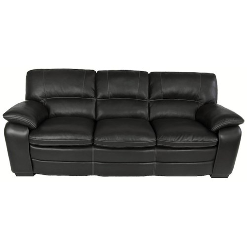 Warehouse M 10422 Contemporary Leather Match Sofa