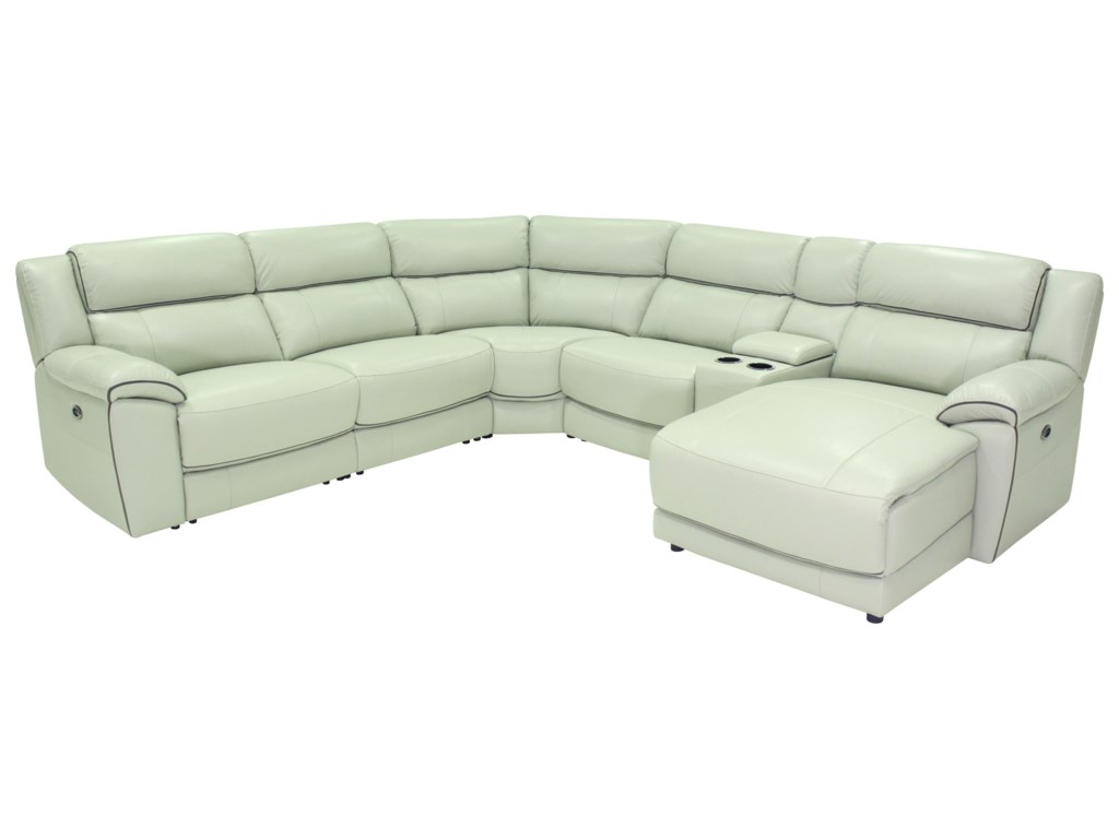HTL 10490Casual Power Reclining Sectional Sofa