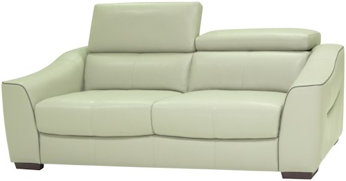 HTL 10707 Contemporary Power Reclining Sofa with Adjustable Headrest