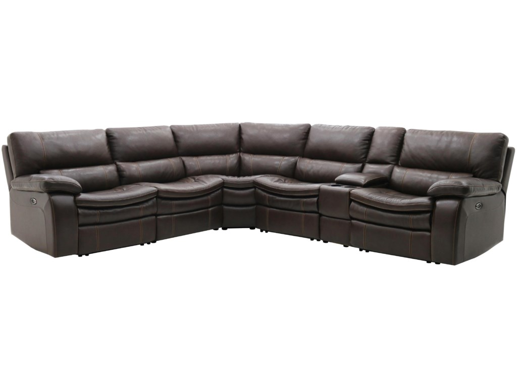 Warehouse M 10712Power Reclining Sectional w/ Console