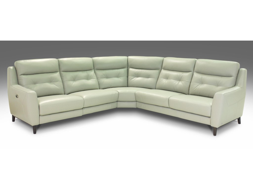Giovani FissionPower Reclining Leather Sectional