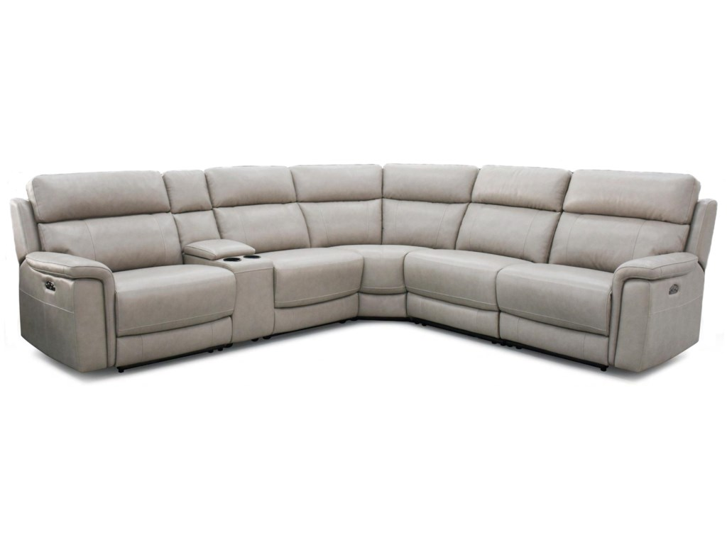 HTL 11324Power Reclining Sectional w/ Power Headrests