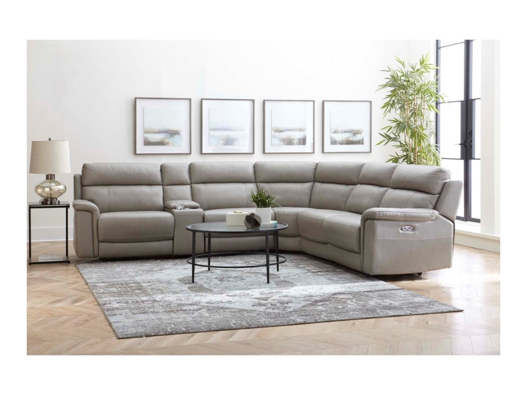 Warehouse M 11324Power Reclining Sectional w/ Power Headrests