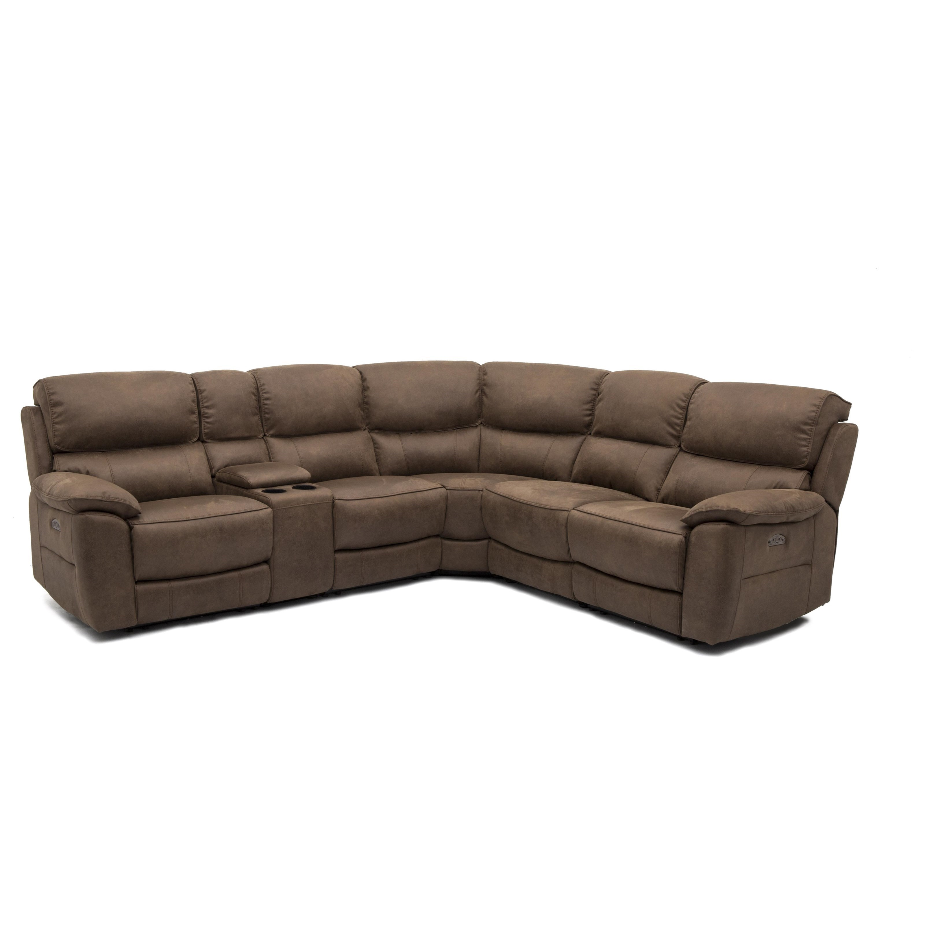 11472 Power Reclining Sectional With 2 Power Headrests