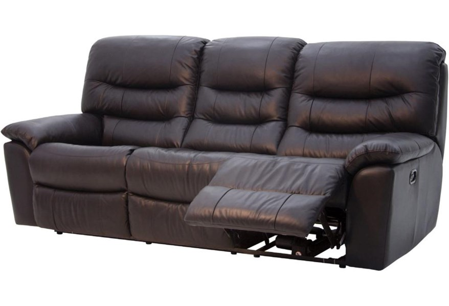 Htl 1867 Leather Reclining Sofa