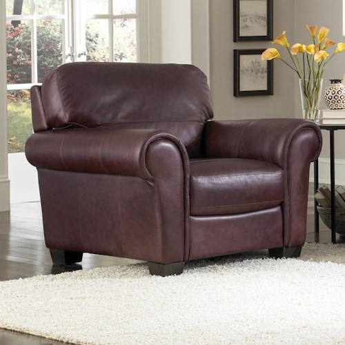 HTL 2274 Upholstered Chair with Rolled Arms