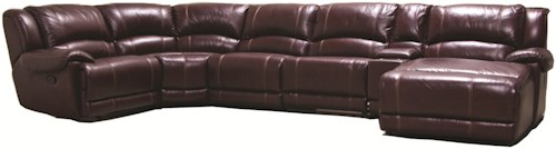 HTL 2681 Reclining Sectional Sofa with RAF Chaise