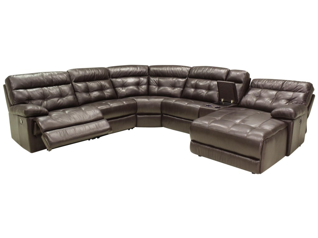HTL 27756 Pc Reclining Sectional Sofa w/ RAF Chaise