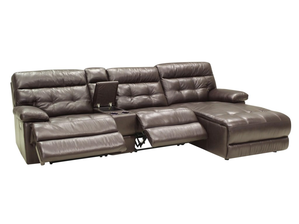 HTL 27754 Pc Reclining Sectional w/ RAF Chaise