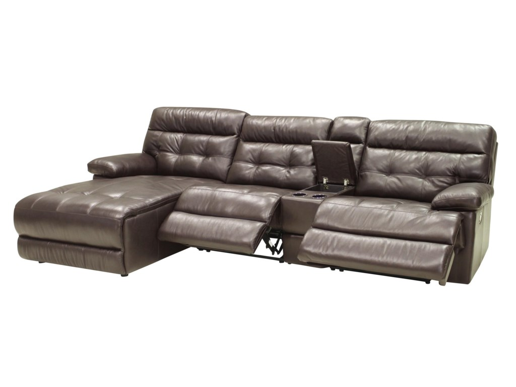 HTL 27754 Pc Reclining Sectional w/ LAF Chaise