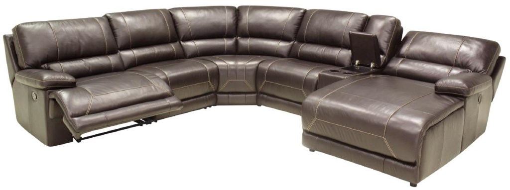 Htl 2847 Reclining L Shaped Sectional Sofa With Right Chaise