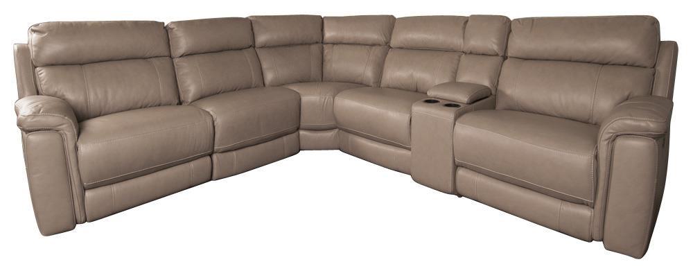 San Lorenzo HoustonHouston Leather Match Power Sectional Sofa ...