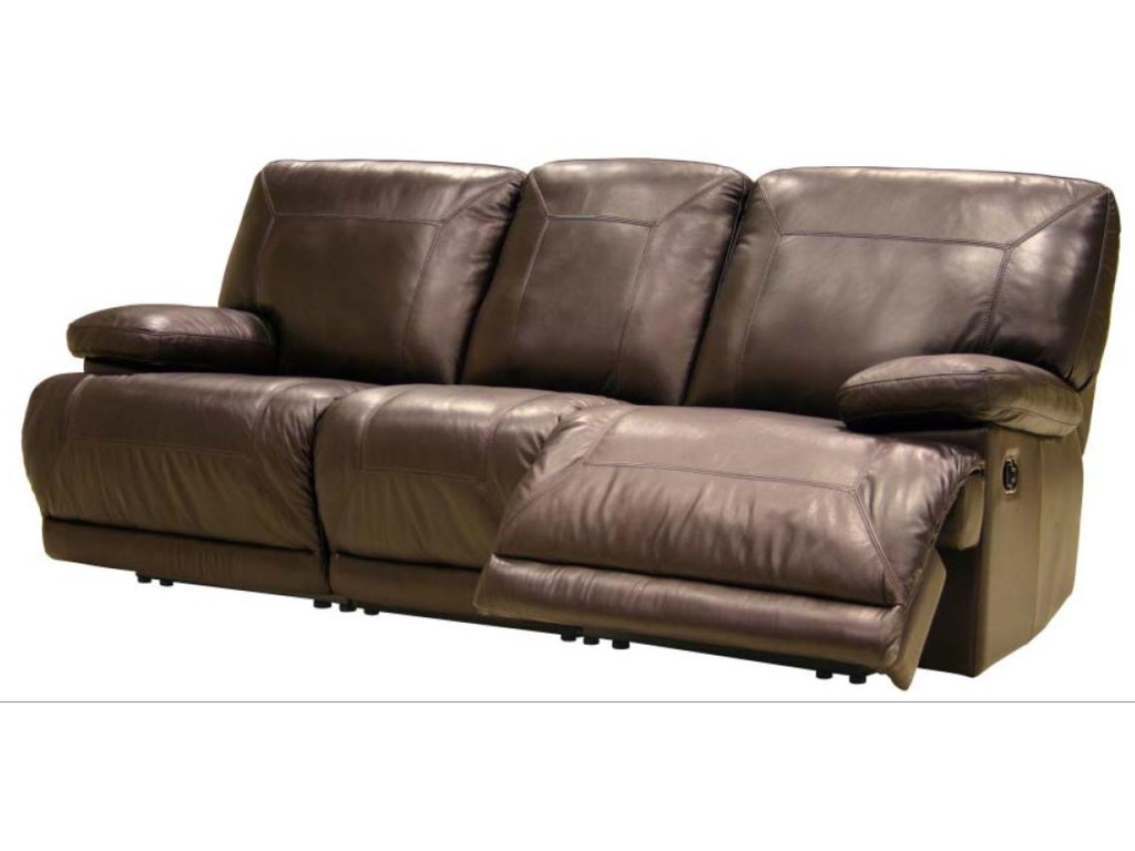 8280 Contemporary Leather Reclining Sofa By Htl