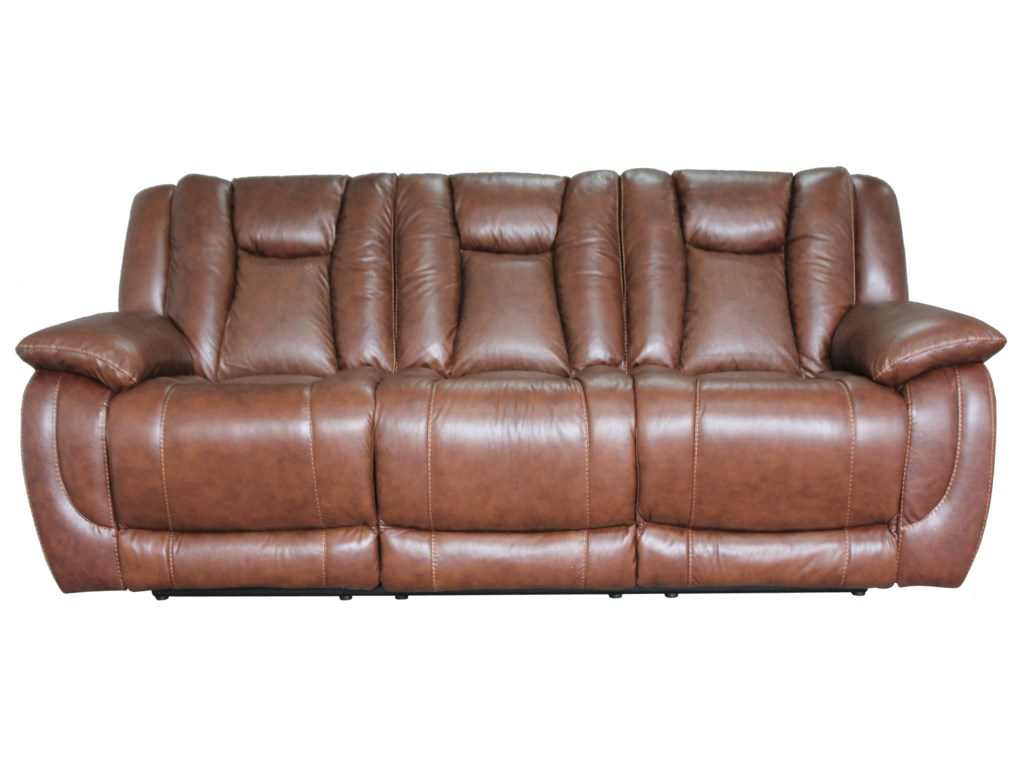 HTL 9024 Contemporary Reclining Sofa with Visible Seam Stitching ...