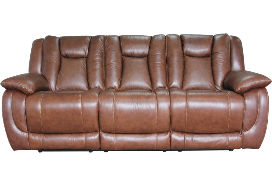 HTL 9024 Contemporary Reclining Sofa with Visible Seam ...