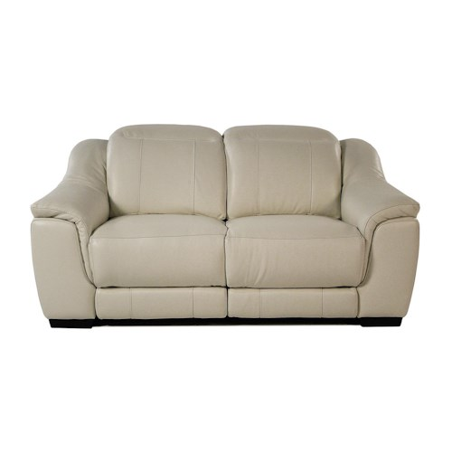 Giovani Illusion Power Reclining Leather Loveseat