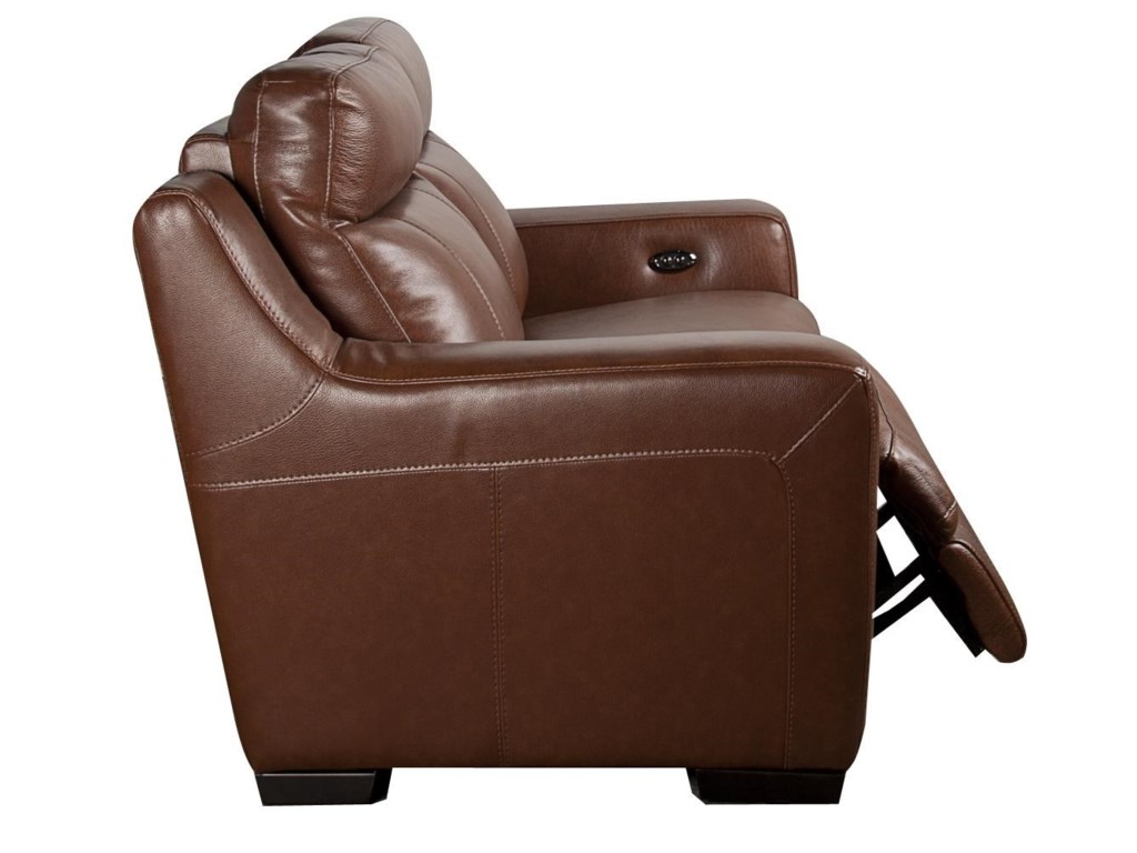 HTL AndyAndy Leather Match Power Loveseat