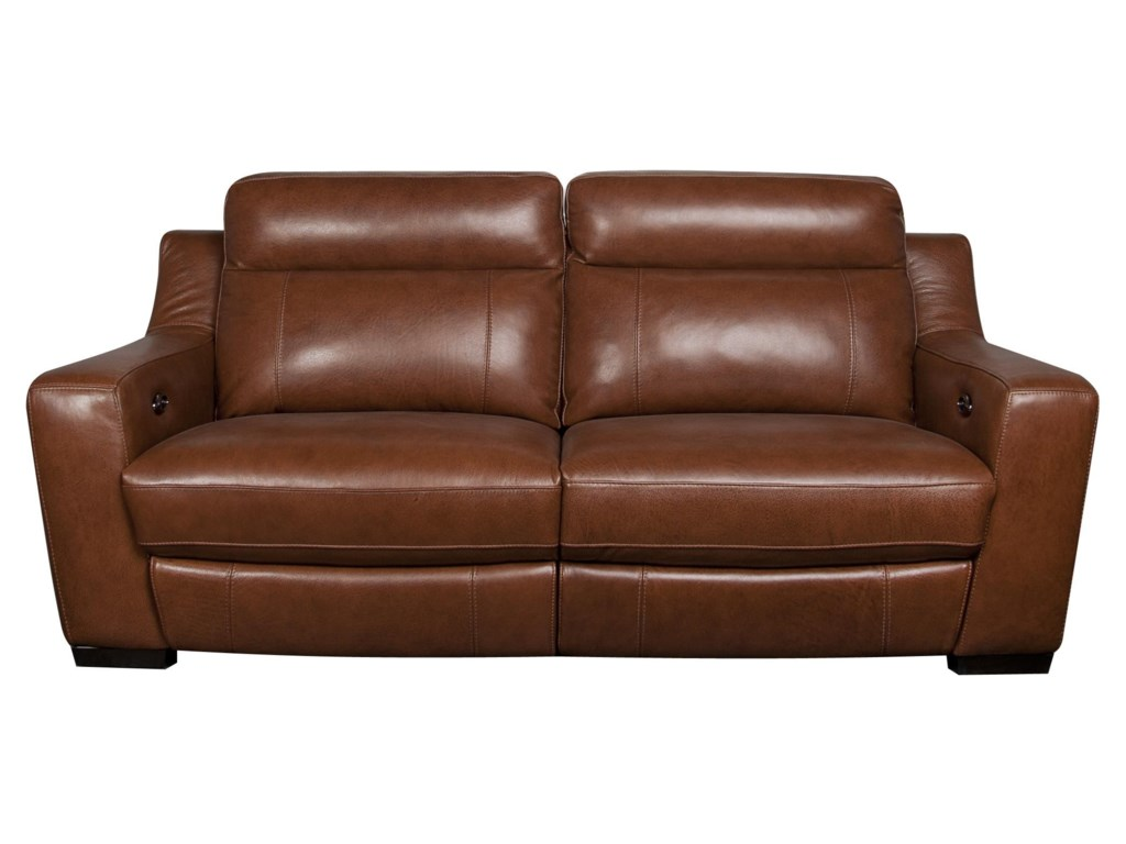 Andy Modern Leather Match Reclining Sofa By San Lorenzo