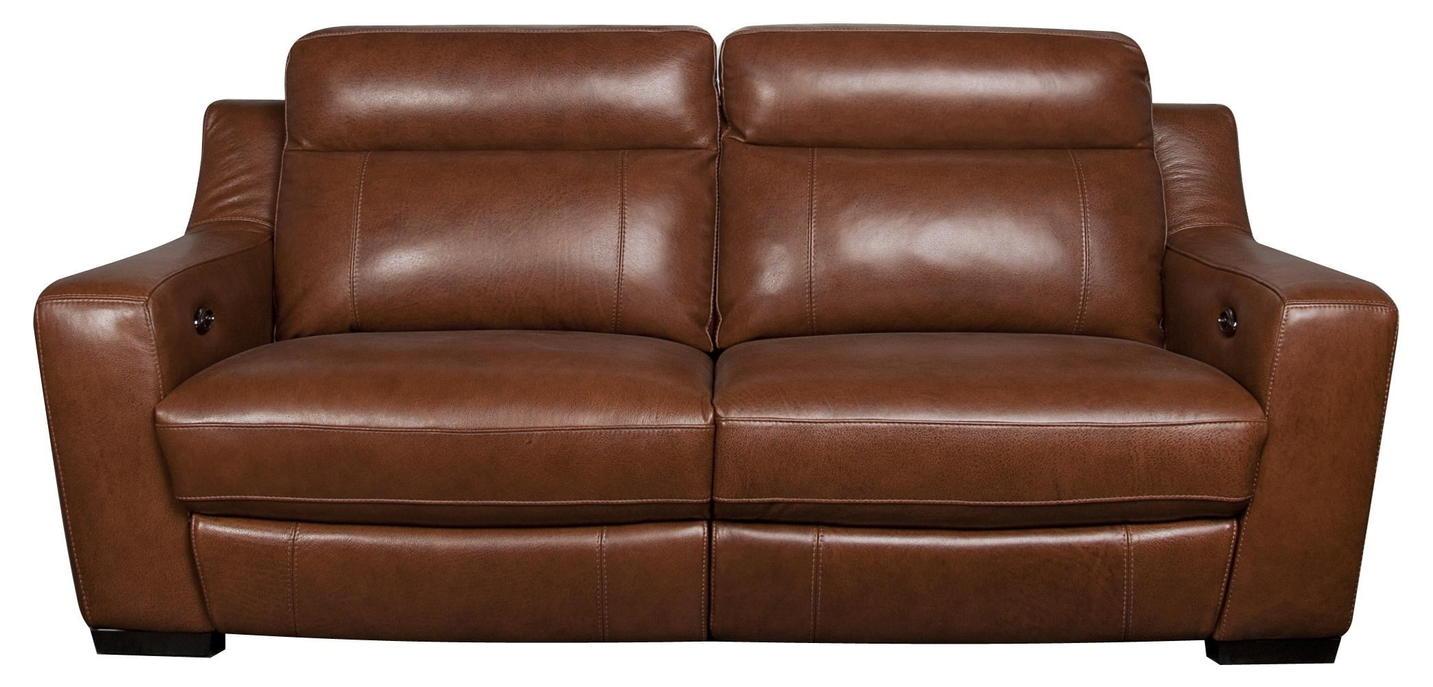 San Lorenzo AndyAndy Leather Match Power Sofa ...