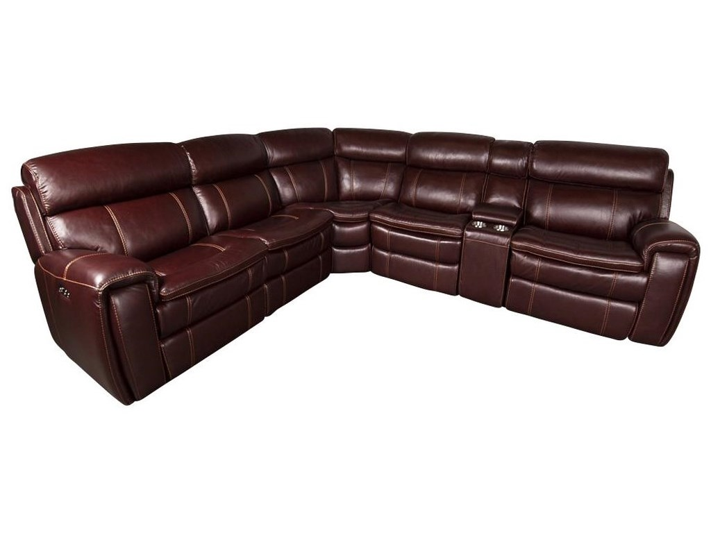 755be0bfb0bc Branton Leather Match Power Sectional Sofa by San Lorenzo