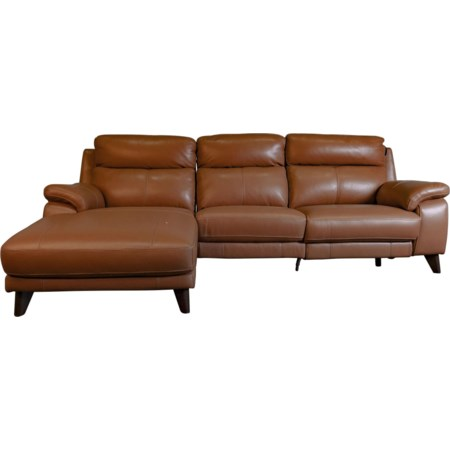 Brista Leather Power Sectional Sofa