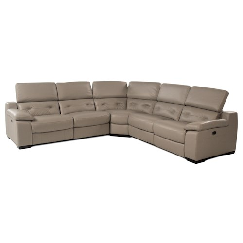 Giovani Cassandra 5PC Power Reclining Leather Sectional