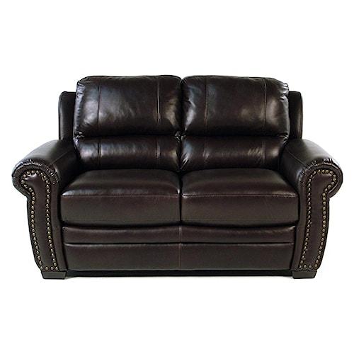 Giovani Devonshire Leather Loveseat