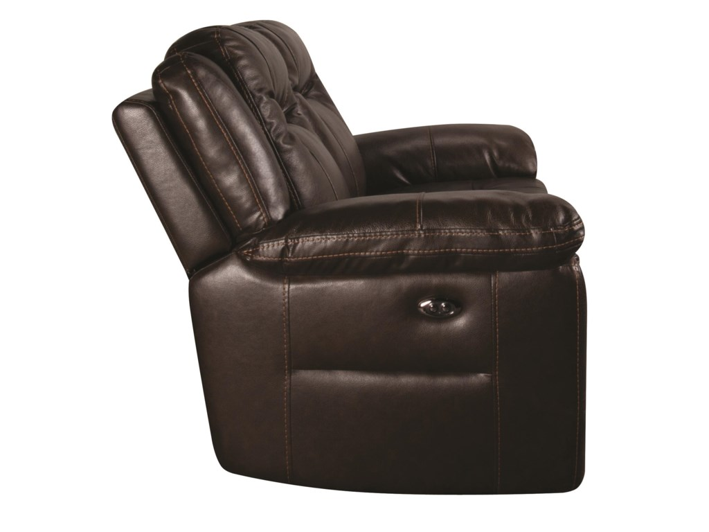 HTL HeathHeath Power Leather Match Loveseat