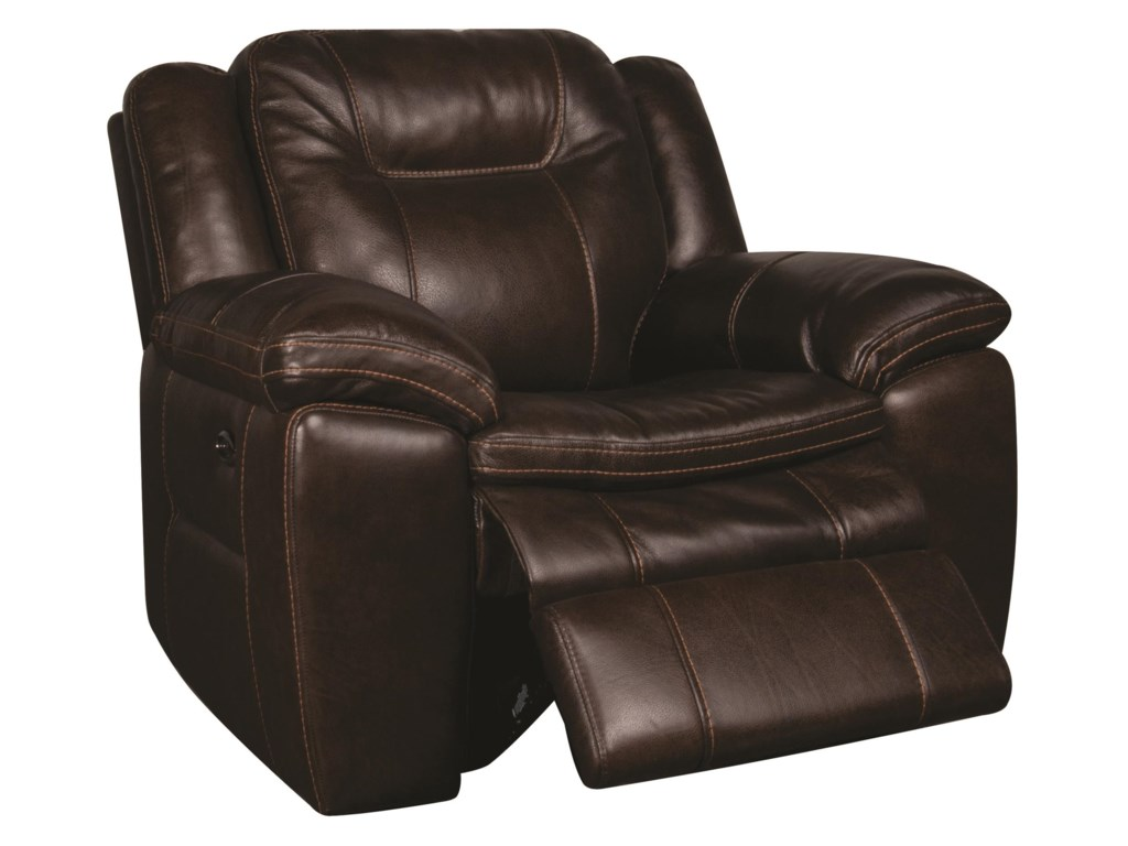 San Lorenzo HeathHeath Power Leather-Match* Recliner