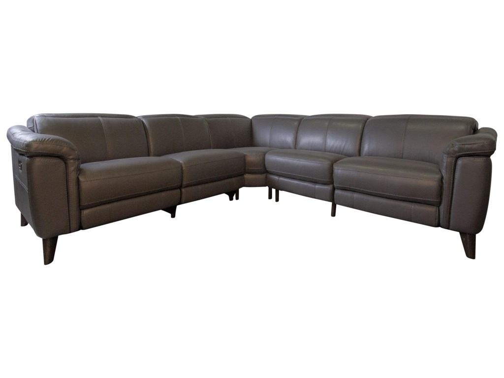 HTL HestonHeston Power Leather Match Sectional