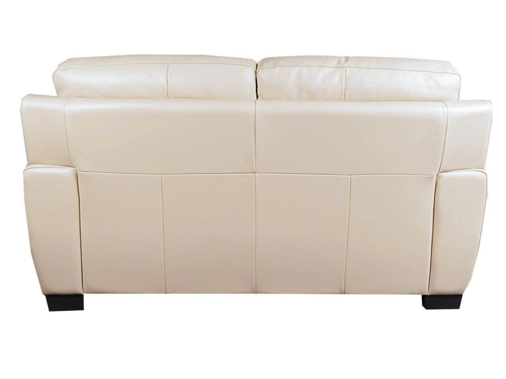 San Lorenzo HoltHolt 100% Leather Loveseat