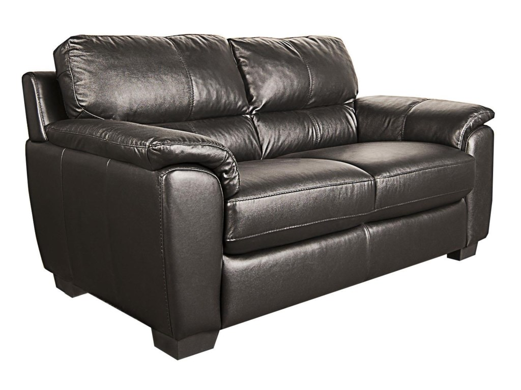San Lorenzo HoltHolt 100% Leather Loveseat