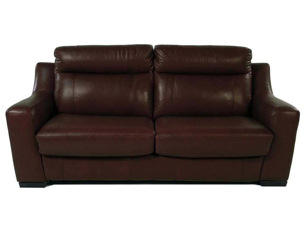 Bartolini Full Size Leather Sleep Sofa by Giovani at Rotmans