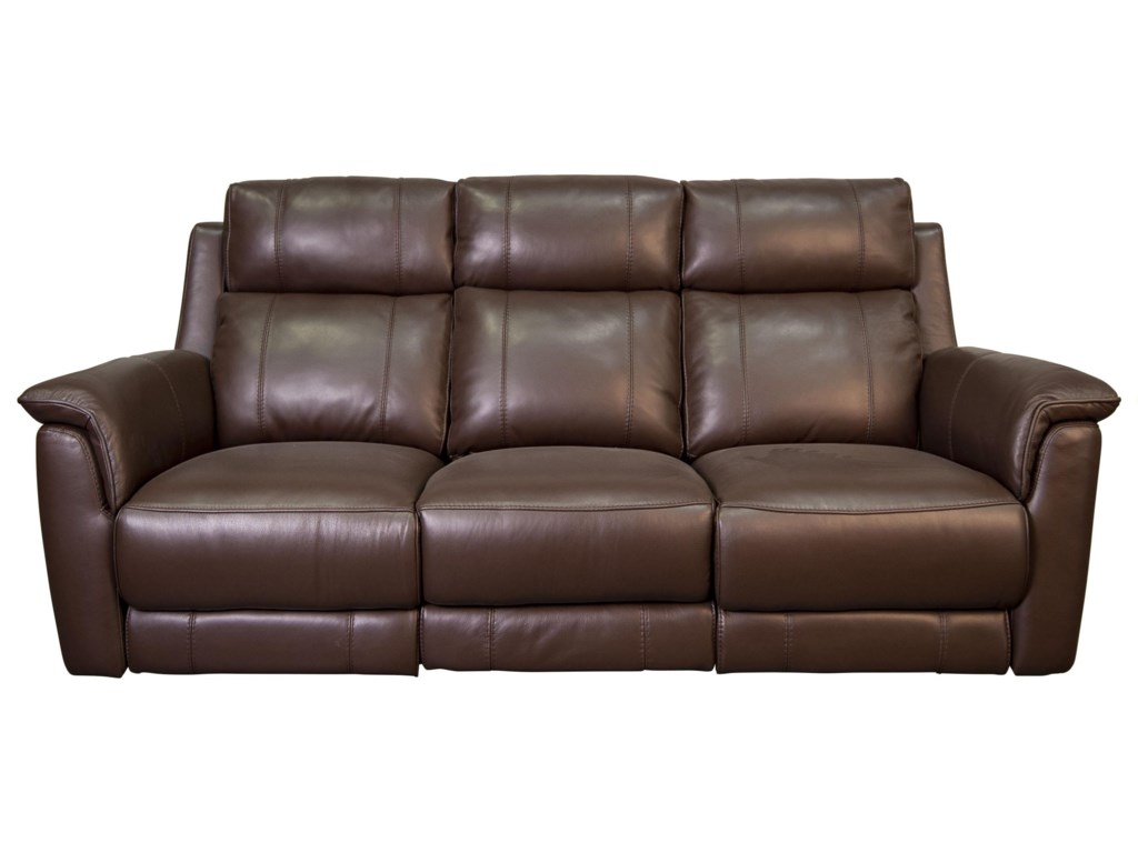 HTL MyronMyron Leather Match Power Sofa