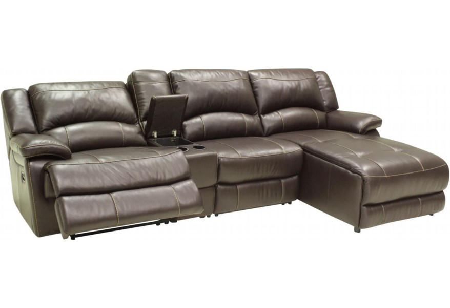 Htl T118cs Small Sectional Sofa With Console And Right Side