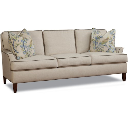 Huntington House 2031 Transitional Sofa with Flared Track Arms