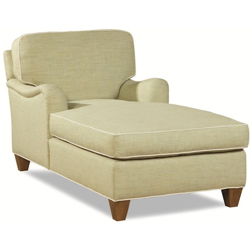 Huntington House 2041 Customizable Chaise with Rolled English Arm and Welt Cords