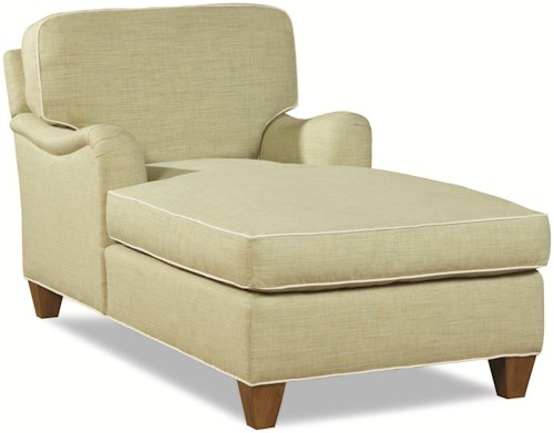 Geoffrey Alexander 2041 Customizable Chaise with Rolled English Arm and Welt Cords