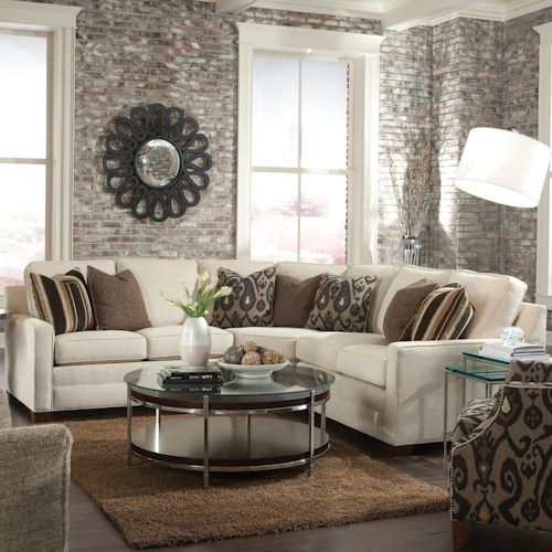Huntington House 2062 Customizable Contemporary Sectional Sofa with Wedge Corner