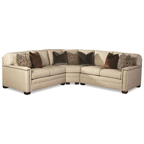 Huntington House 2062 Customizable Contemporary Sectional Sofa With