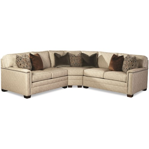 Geoffrey Alexander 2062 Customizable Contemporary Sectional Sofa with Wedge Corner