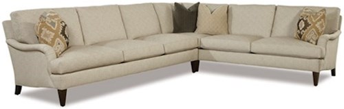 Geoffrey Alexander 2100 Two Piece Traditional Corner Sectional Sofa
